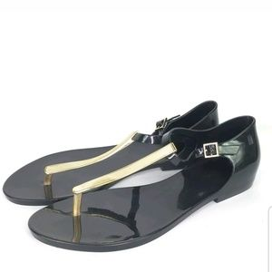 Melissa Womens Honey Chrome Sandals black gold